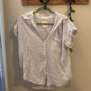 AE lightweight striped shirt sleeve button up